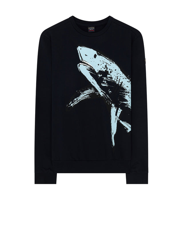 Shark Print Sweater in Blue