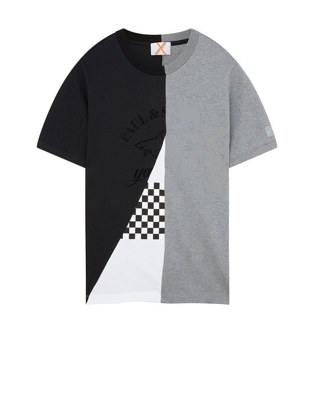 Paul & Shark x Nick Wooster Contrast T-Shirt in Grey
