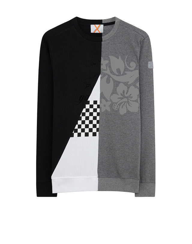 Paul & Shark x Nick Wooster Contrast Sweatshirt in Grey