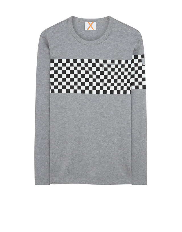Paul & Shark x Nick Wooster Check Sweatshirt in Grey