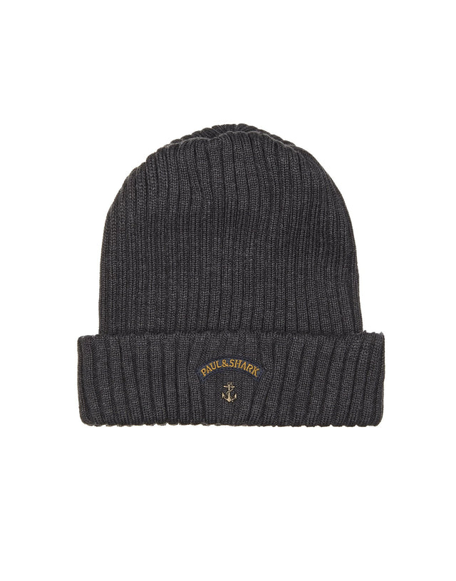 Ribbed Knit Hat in Grey