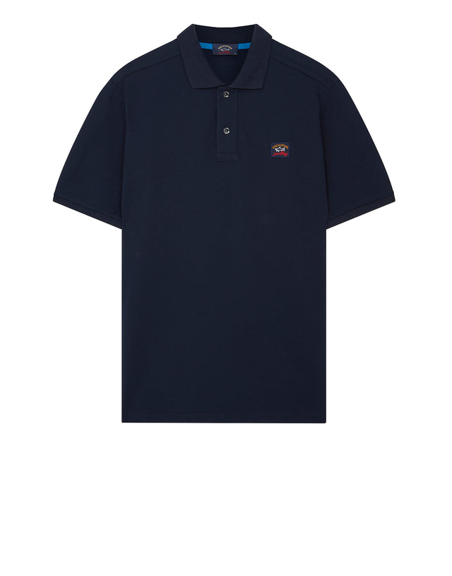 Chest Patch Polo Shirt in Navy