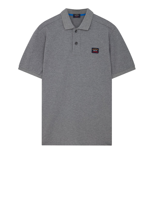 Chest Patch Polo Shirt in Grey