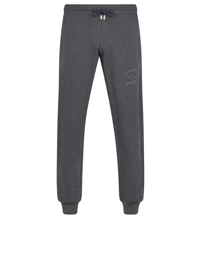 Woven jogging trousers in charcoal