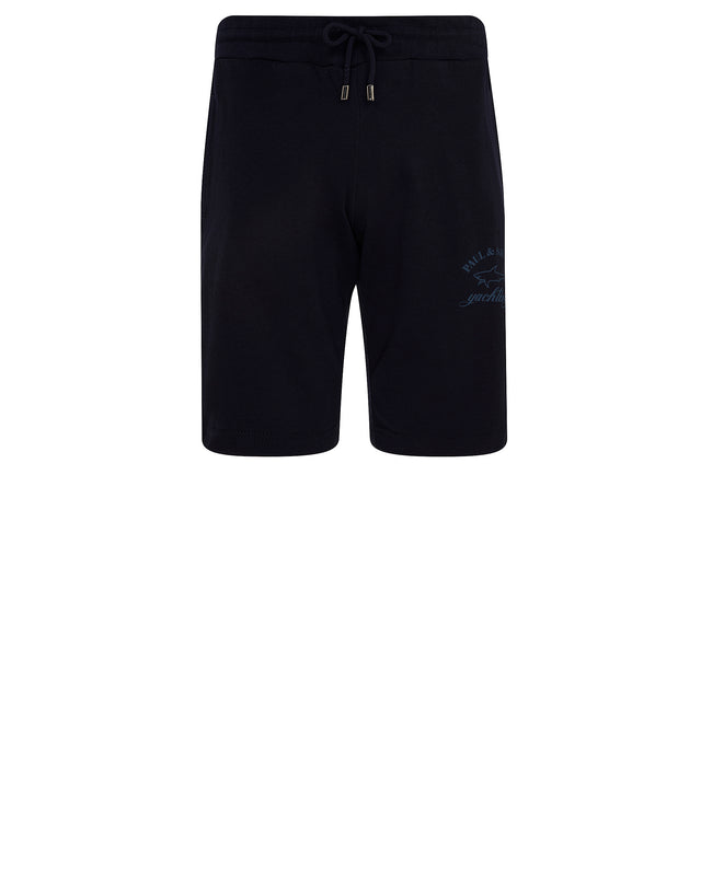 Woven Sweat Shorts in Blue