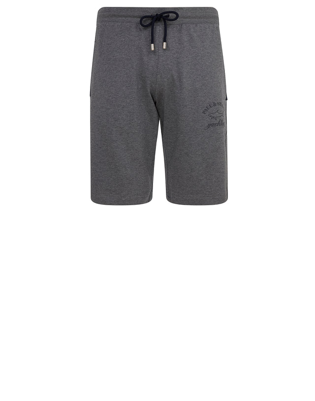 Woven Sweat Shorts in Grey