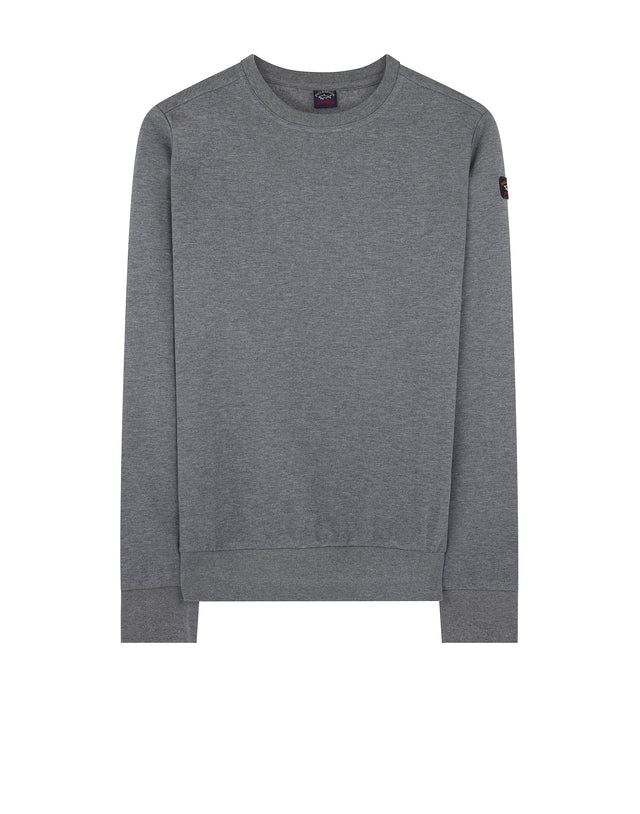 Knitted Crewneck Sweater in Grey