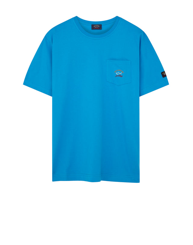 Short Sleeve Heritage Pocket T-Shirt in Blue