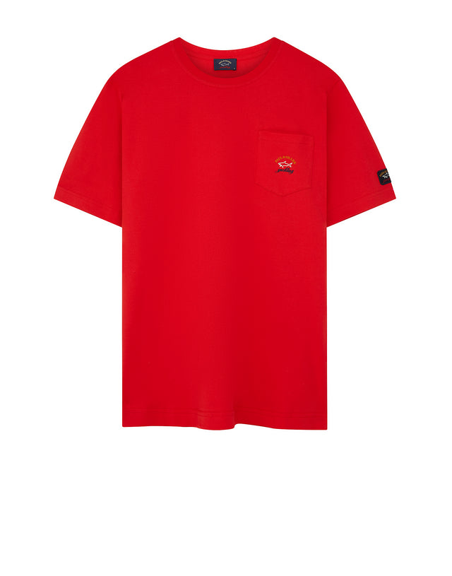 Short Sleeve Heritage Pocket T-Shirt in Red