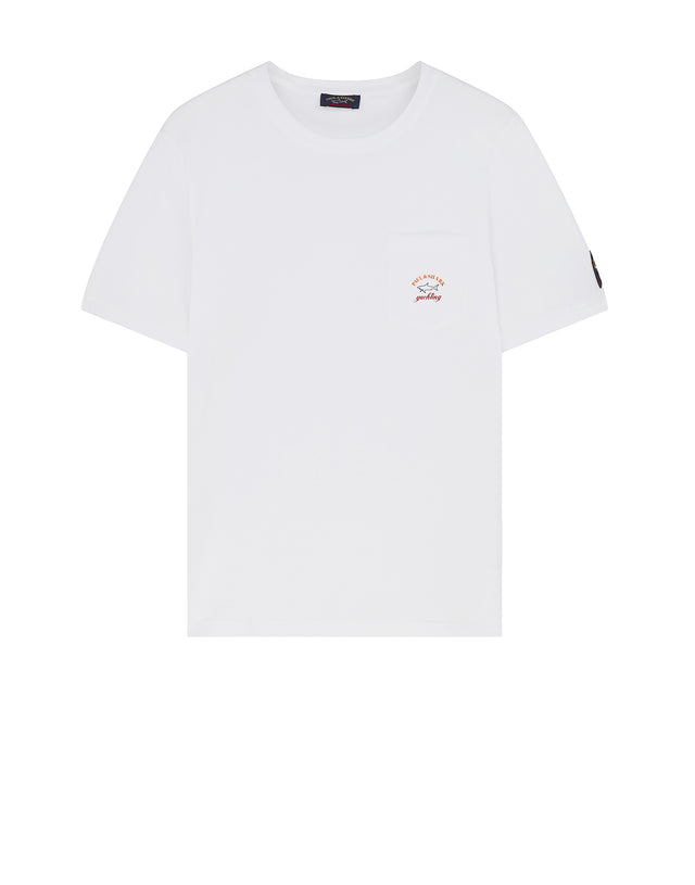 Short Sleeve Pocket T-Shirt in White