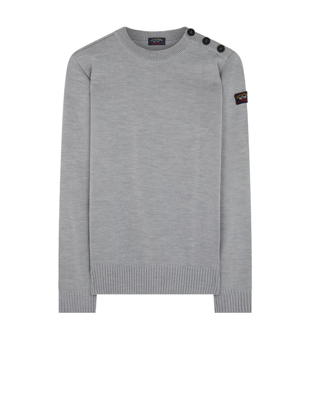 Knitted Sailor Sweater in Grey