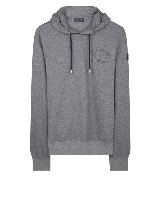 Classic long sleeve crew neck sweatshirt in grey