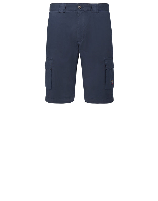 Woven Bermuda Shorts in Navy