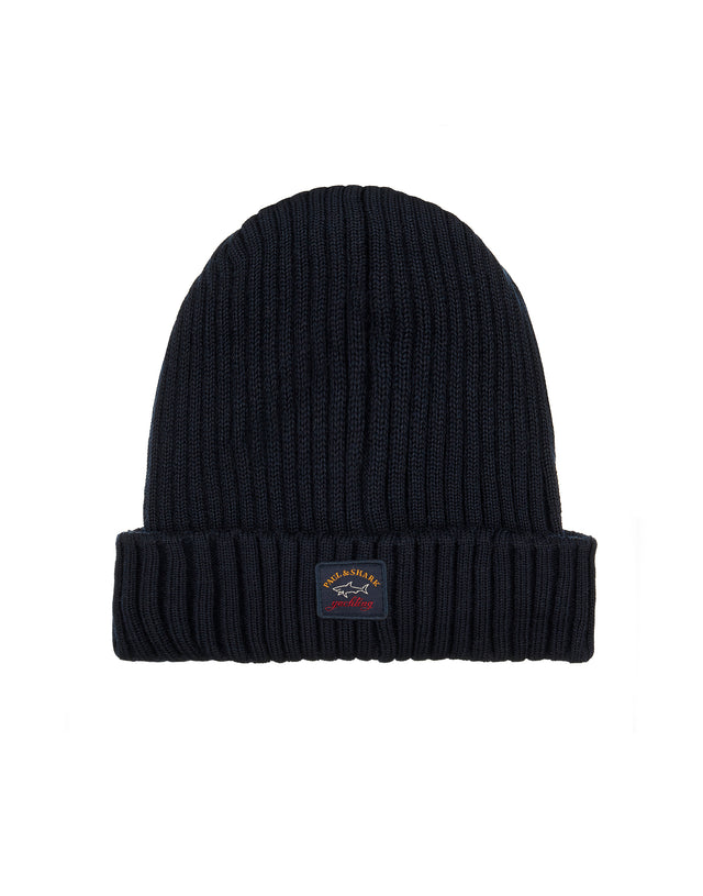 RIbbed Beanie Hat in Blue