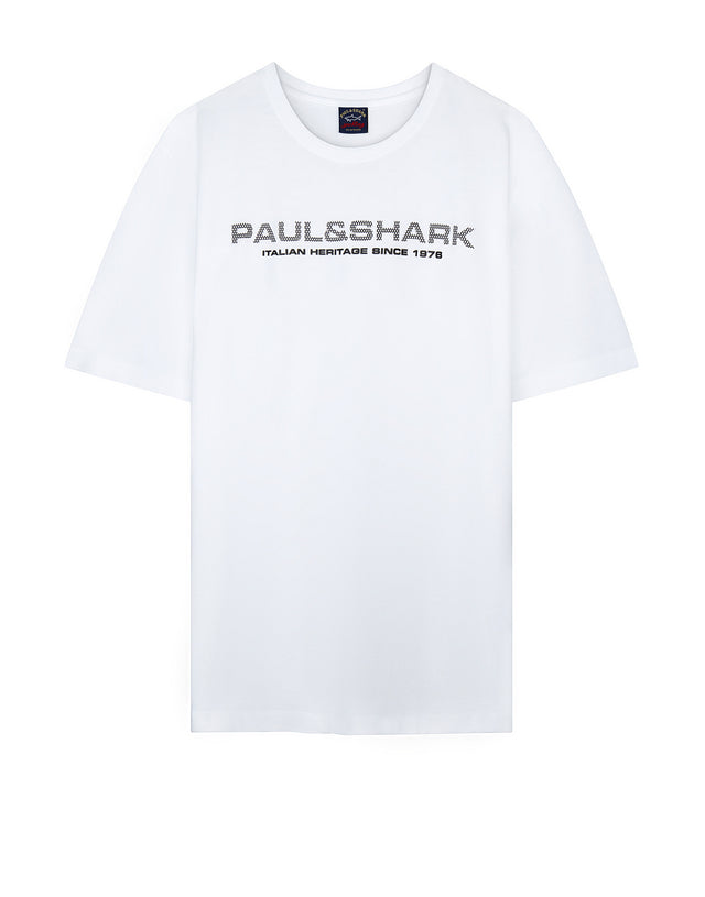 Short Sleeve Logo Tee Shirt in White