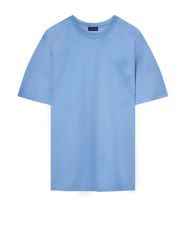 Short sleeve crew neck tee shirt in Blue