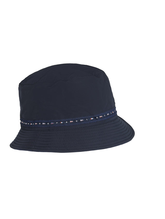 Woven Bucket Hat in Navy