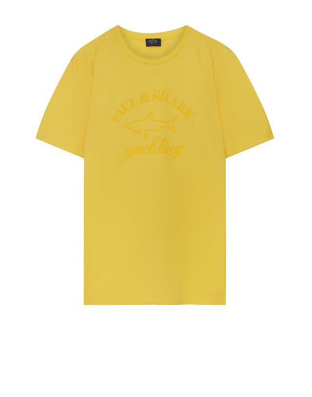 Tonal Graphic Tee in Yellow