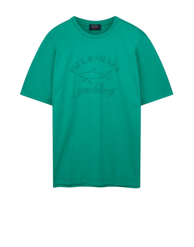Tonal Graphic Tee in Turquoise