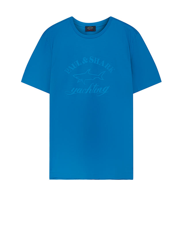 Tonal Graphic Tee in Light Blue