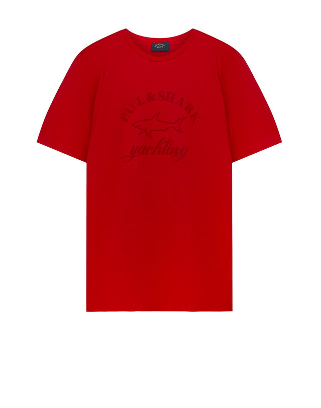 Tonal Graphic Tee in Red