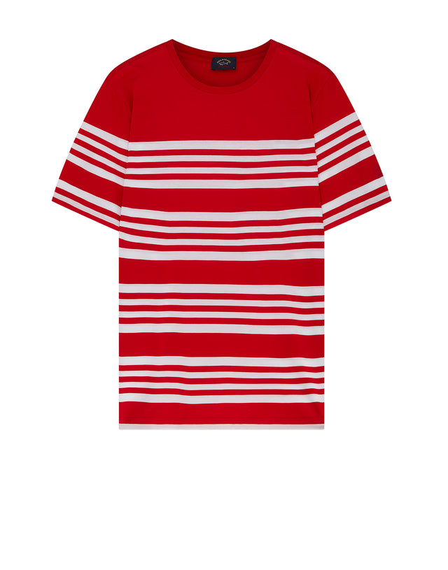Breton Stripe Interval T-Shirt in Red