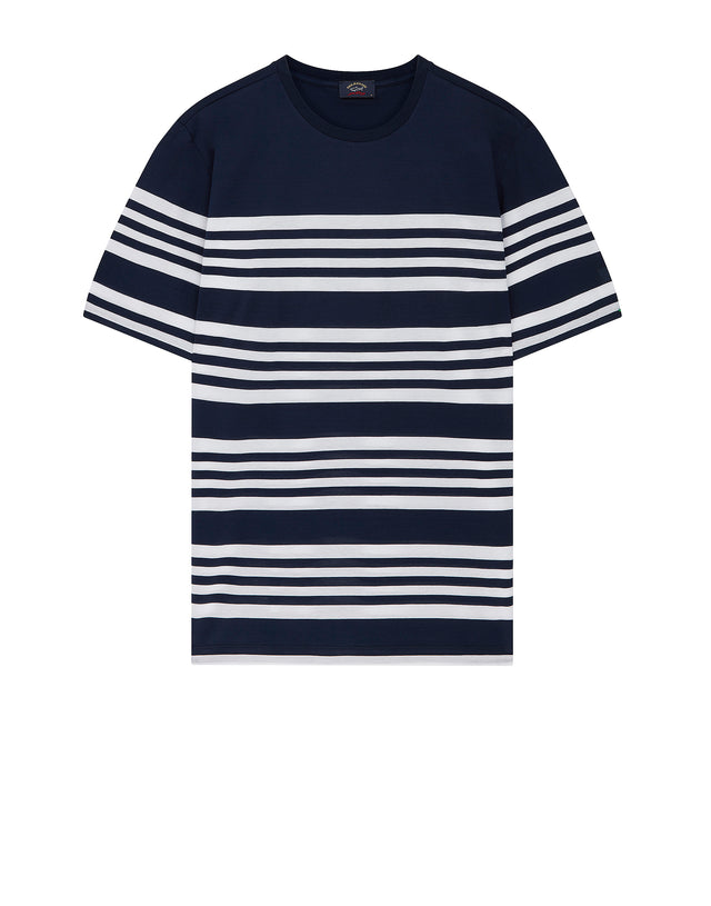 Breton Stripe Interval T-Shirt in Blue