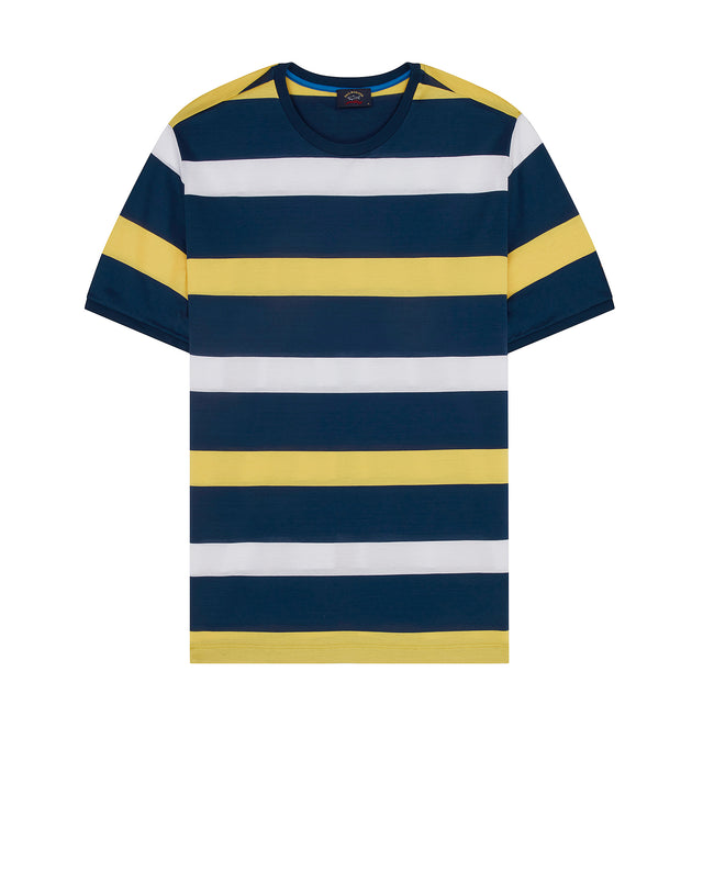 Short Sleeve Stripe T-Shirt in Yellow