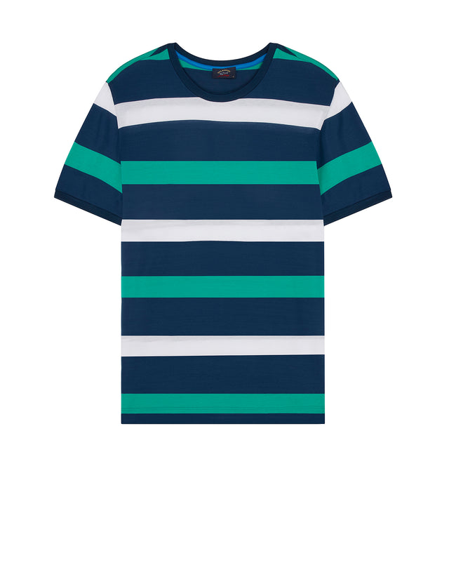 Short Sleeve Stripe T-Shirt in Green