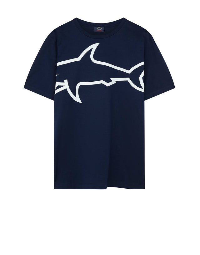 Large Shark Logo T-Shirt in Blue