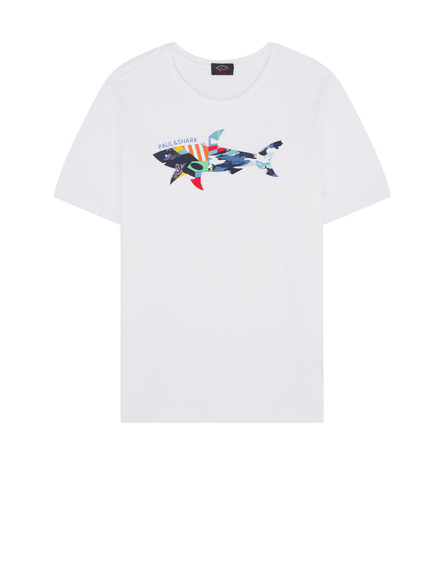 Collage Graphic T-Shirt in White