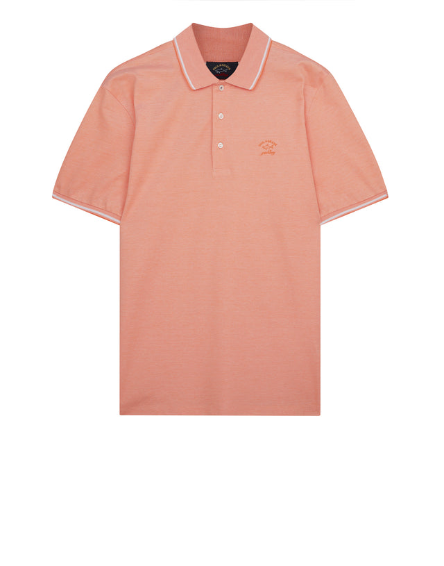 Yachting Embroidered Polo Shirt in Orange