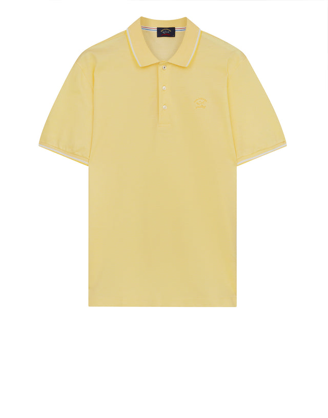 Yachting Embroidered Polo Shirt in Yellow