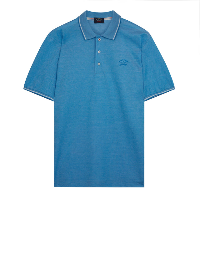 Yachting Embroidered Polo Shirt in Light Blue
