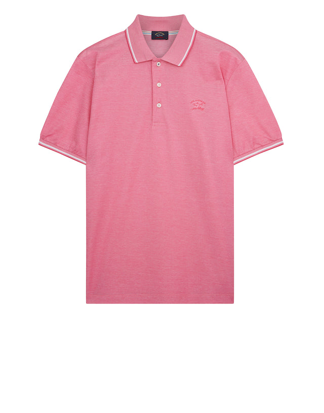 Yachting Embroidered Polo Shirt in Pink