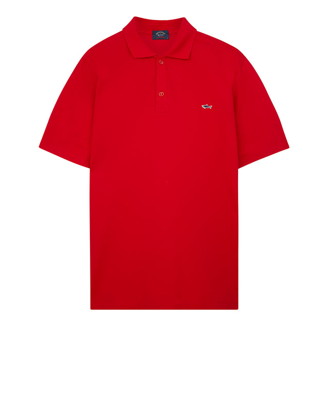 Heritage Shark Polo Shirt in Red