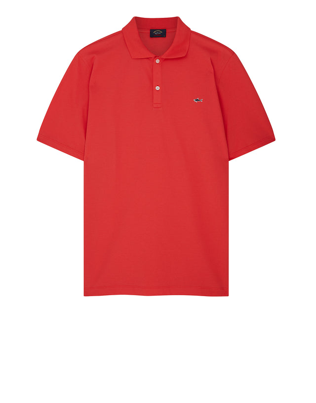 Heritage Shark Polo Shirt in Coral