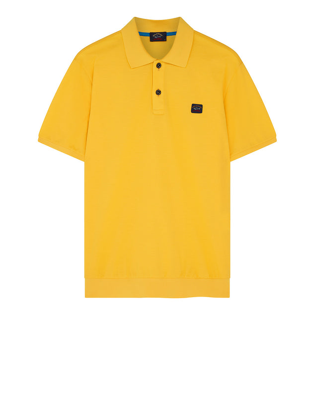 Flag Collar Yachting Polo Shirt in Yellow