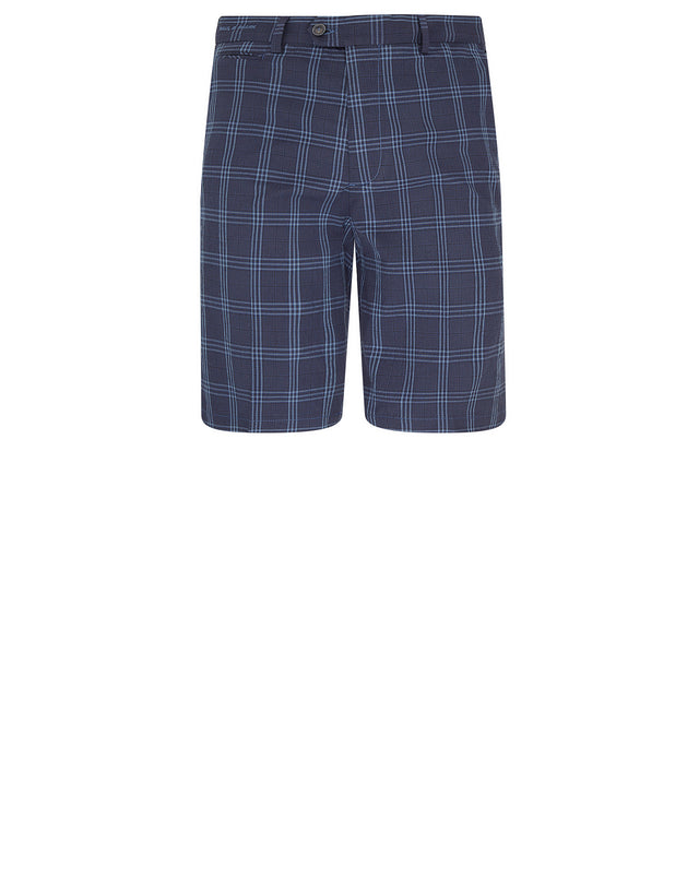 Woven Bermuda Shorts in Blue