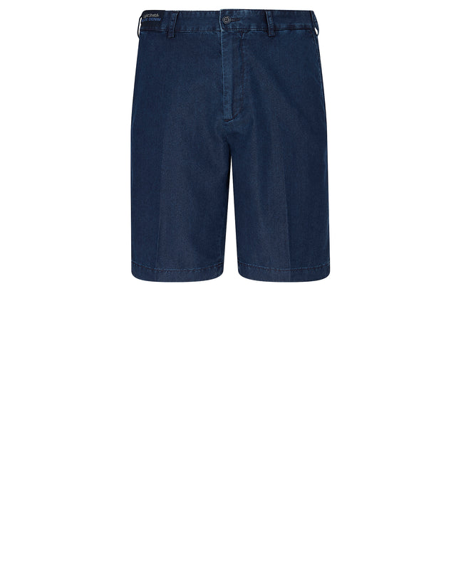 Denim Bermuda Shorts in Blue