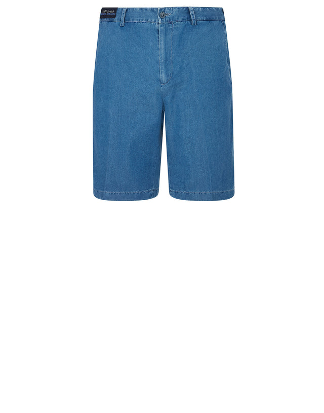 Denim Bermuda Shorts in Light Blue