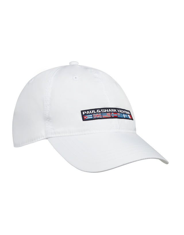 Woven Yachting Patch Baseball Cap in	White