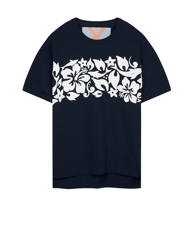 Cotton Crew T-Shirt in Blue