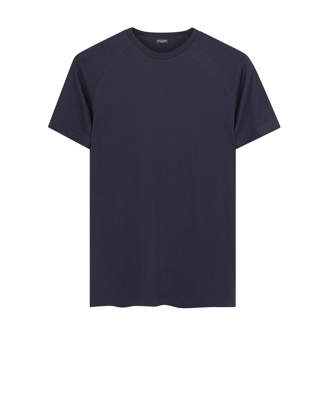 Cashmere Raglan T-shirt in Blue