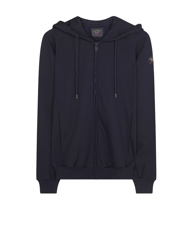 Shark Fit Hooded Jumper in Navy