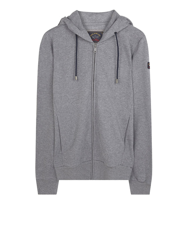Shark Fit Hooded Jumper in Grey