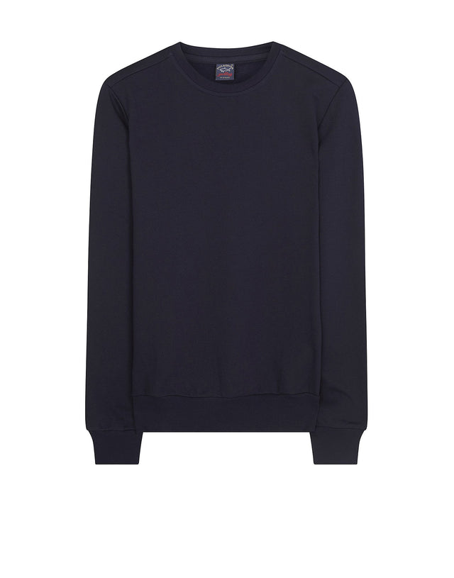 Shark Fit Crewneck Sweater in Navy