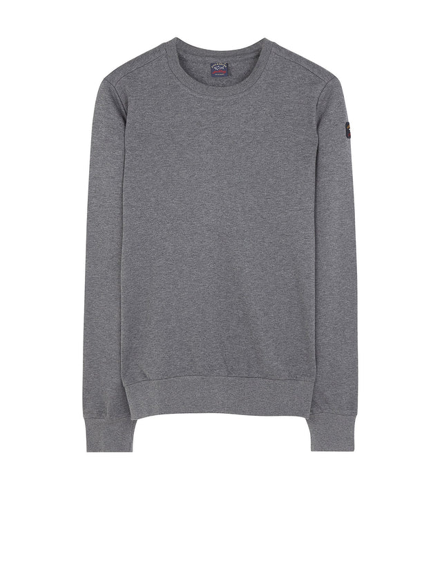 Shark Fit Crewneck Sweater in Grey