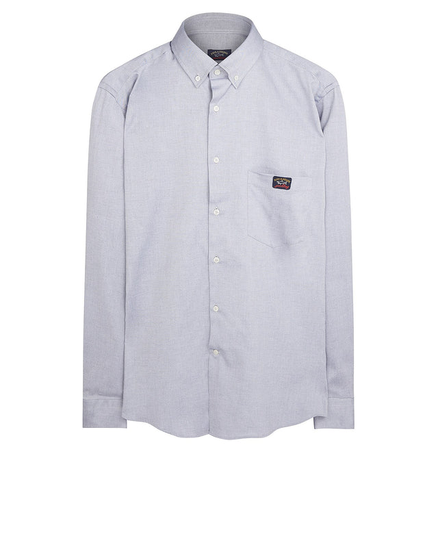 Shark Fit Oxford Shirt in Light Blue