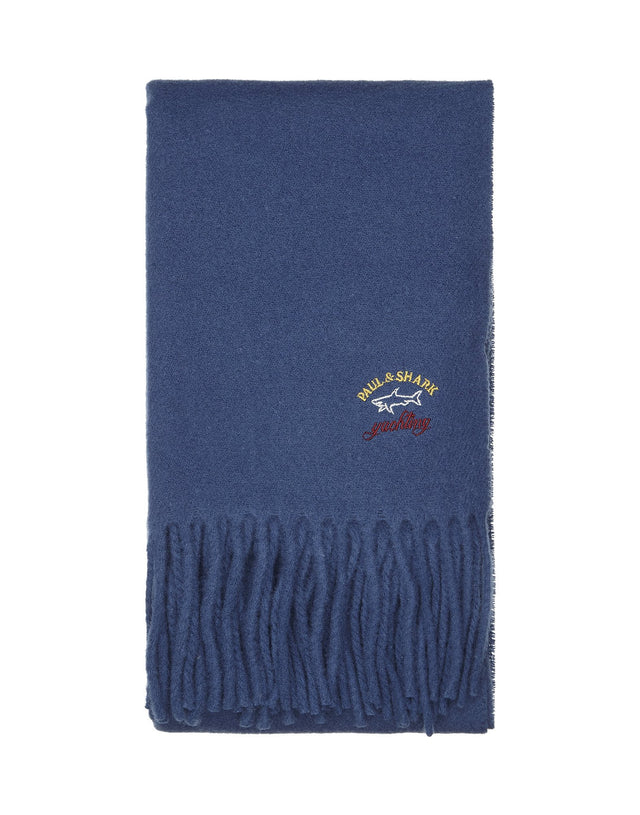 Wool Scarf in Blue